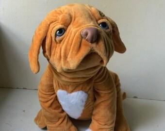 Lifelike stuffed dog bullmastiff Daisy
