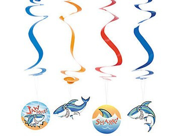 My Shark Party Hanging decoration / Party decorations/ shark theme /shark/ shark party