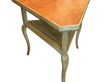 Minton Spidell Designer Marble Top Triangle Table