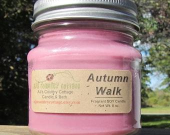 AUTUMN WALK SOY Candle - fresh air, woods, pine, cedar, berries, sage, clove, aspen - Fall Candles Autumn Candles Fall Decor Autumn Decor