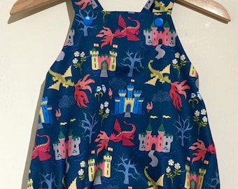 Blue Dragon Romper 6-9m