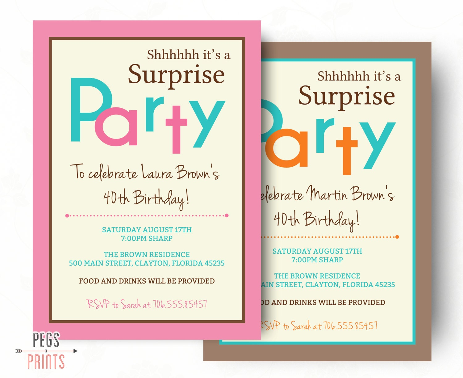 Surprise Birthday Invitation Printable Surprise Birthday - Invitations for 60th birthday party templates