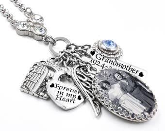 Memory Necklace, Personalized Photo Necklace, Custom Photo Jewelry, Custom Keepsake Jewelry, Sympathy Jewelry