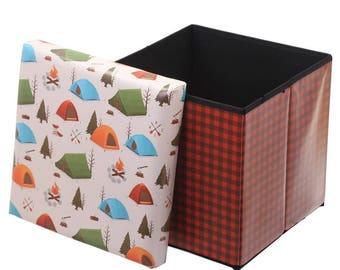 Camping storage stool