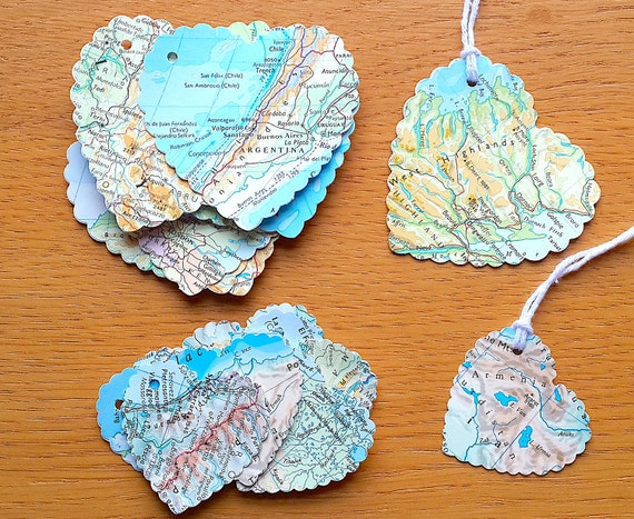 Travel theme gift tags heart shaped world map gift tags gumiabroncs