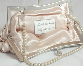 Printed Personalized Text For TheOmbreMouse Clutches Personalized Bridal Clutch Custom Bridesmaid Clutch Wedding Party Gift Bridesmaid Gifts