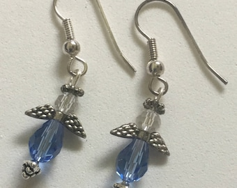 Angel Earrings / Blue Angel Earrings