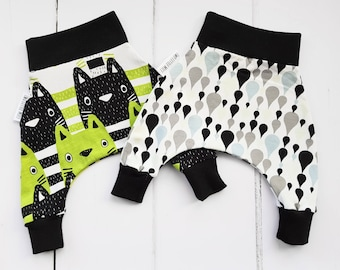 New baby gift, baby leggings, baby girl clothes, baby shower gift, baby boy gift, organic baby clothes, harem pants, gender neutral baby