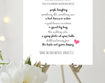 Wedding Game Wedding Printable | I Spy Wedding Game | Wedding Reception Game | Wedding Signs | Digital Download CWS308_3422