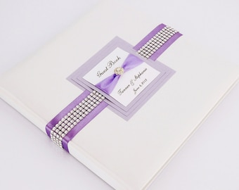Wedding Guest Book - Personalized - lavender