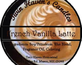 French Vanilla Latte Scented Candles