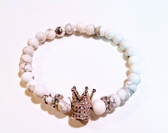 Silver Crown and Swarovski crystals
