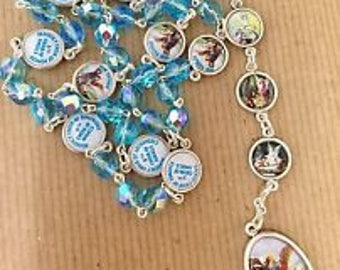 CHAPLET of Archangel MICHAEL - devotion to Angel Michael - rosary assambled in Poland of Italian parts 16""