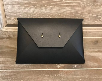 Black Envelope Clutch