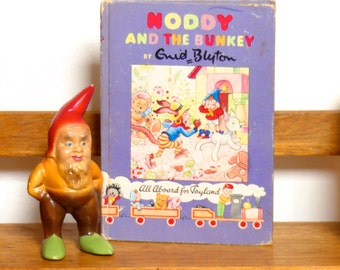 Vintage Mid Century Hardcover Children's Book - Noddy and the Bunkey - Noddy Book No. 19