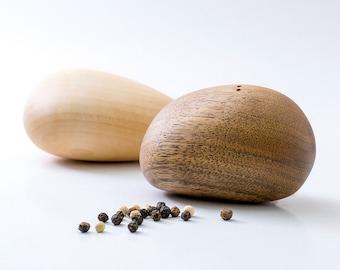 Modern Salt And Pepper Shakers - Elegant Wooden Stones - Design Gift Decor