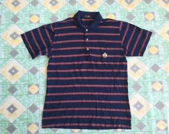 Vintage 90's Celine Paris Made In Italy Stripes Coller Shirt