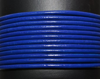 Royal Blue - 1.5mm Leather Cord per yard