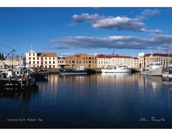 Victoria Dock in Hobart 1000 piece Jigsaw by John Temple
