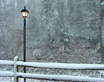 Narnia Lamp Post  8x10 Chronicles of Narnia Winter Wonderland Photograph Snow Scene