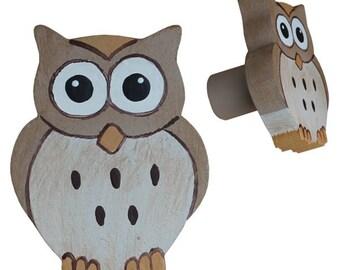 Owl Drawer Knob - Woodland Owl Drawer Pull