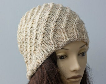 Crochet Slouchy Beanie, Custom Chose Color, Winter Hat. Spiral Hat,  Woman's Hat