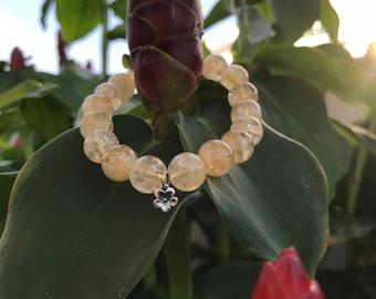 Citrine Bracelet, Gemstone Bracelet, Bead Bracelet, Natural Stone Bracelet, Healing Bracelet, Energy Bracelet, Solar Plexus Chakra.