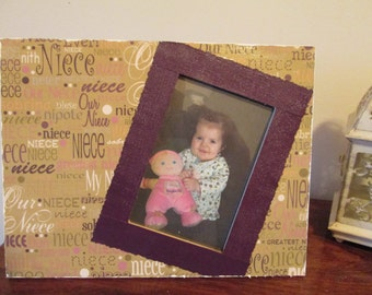 4x6 Niece Themed - Hand Decorated Picture Frame