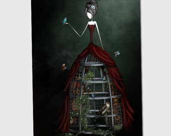 The virgin- 11x8 or 16,5x11 inches fine art print- Signed - Printed by a professional