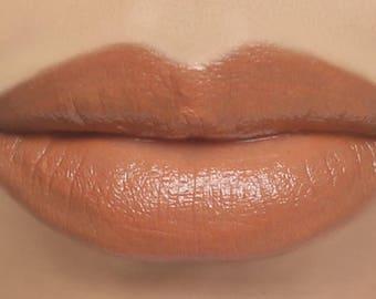 "Orange Peach Lipstick - ""Papaya"" Vegan Mineral Lipstick natural lip tint"