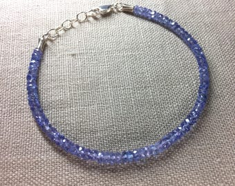 Tanzanite Bracelet in Sterling Silver