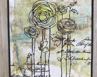 Flower Card//Handmade Card