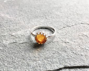 Eloise Ring with Natural Amber