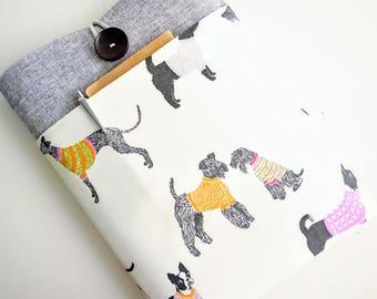 Dogs iPad Case, iPad Pro Case, 9.7, 10.5, 12.9 inch iPad Pro Sleeve, iPad Air Case Handmade, Padded, Custom Sized