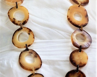 HANDMADE Organic Necklace Buffalo Horn