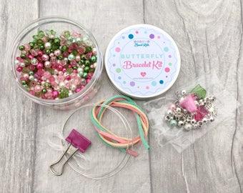Butterfly Bracelet Kit, DIY Craft Kit, Jewellery Making Kit, Beads for Kids, Friendship Bracelet, Bead-Kids, Bracelet Kit, Beading Kit