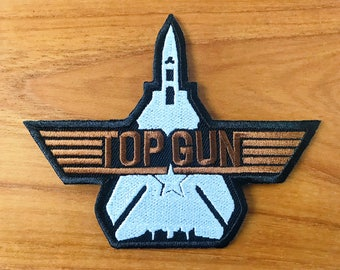 New TOP GUN USN Us Navy Sew Iron On Embroidered Patch Applique