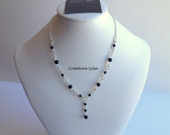 Short Necklace Swarovski pearls, Swarovski crystals necklace, Burgundy necklace, Evening chic necklace, Fashion mode necklace, Original C210