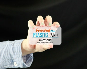 Frosted Plastic Business Card print / frosted cards / custom card