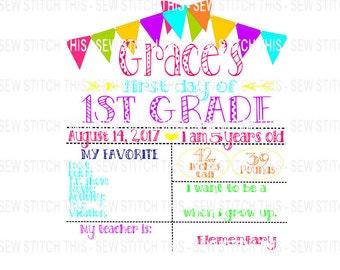 First grade svg, School svg, Back to school svg, First day of school svg, 1st day of school, hello first grade, 1st grade svg, First day