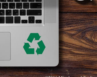 """Two (2)  RECYCLE SYMBOL 2.5"""" x 2.5"""" Vinyl Decal Sticker - Pair - Reduce Reuse Recycling *Free Shipping*"""