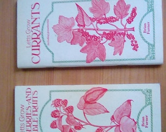 Two Letts Guides from 1970s Brian Turner raspberries brambles gooseberries and currants