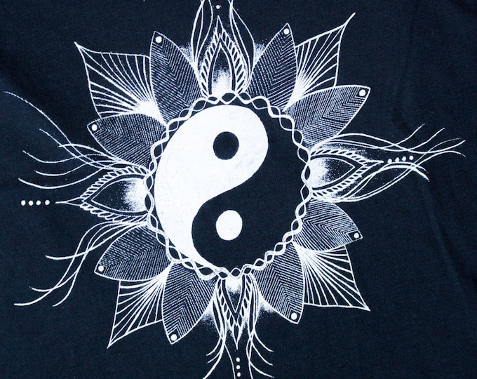 Featured listing image: Yin Yang Tank Top Light and Dark Balance Yoga Meditation