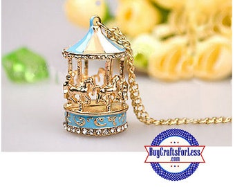 CAROUSEL PENDANT, Colorful - Very Cute  +FREE SHiPPiNG & Discounts*