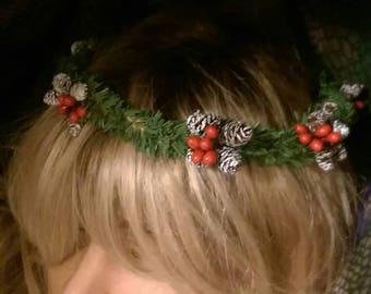 Winter Hair Wreath