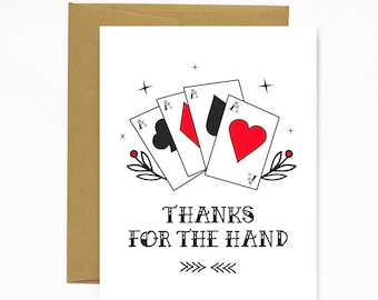 Thanks For The Hand - Greeting Card
