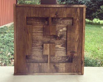 Rustic wood letter cutout. Custom initial sign. Wooden letter sign. Monogram sign. Gift for home. Rustic home decor.