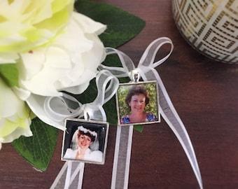 Wedding bouquet photo charm, Memory Locket, Memory Charm, memorial charm, bouquet memorial charm, wedding photo locket, Bouquet charm