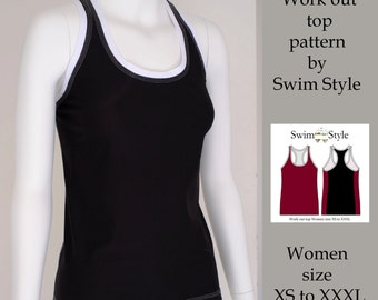 Work out top Women s sewing pattern pdf  Active wear
