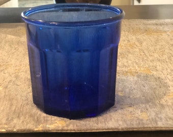 Cobalt Blue 10 Panel Tumbler Made in France